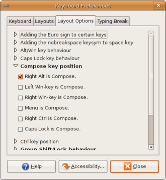 Ubuntu Keyboard Preferences Layout Options Compose Key