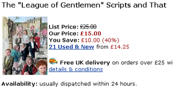 League Of Gentlemen at Amazon UK