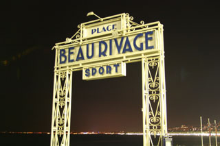 Plage Beau Rivage, Nice (by night)