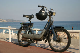 A Vespa on the Promenade des Anglais, Nice
