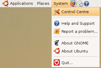 Ubuntu 7.04 implements a 'Control Centre'