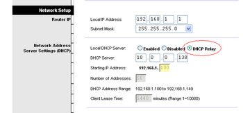 wag54g dhcp setting